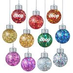Custom Confetti Filled Ornaments with Electroplated lid and Silicone Stopper in Cap