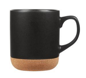 Custom Corky 14 oz matte glazed ceramic mug with cork bottom