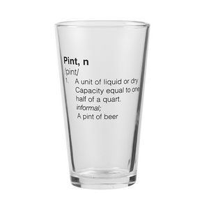 16 oz Glassic Tapered Pint Glass