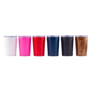 12 oz Milano double wall 18/8 stainless steel thermal tumbler with copper vacuum 12 insulation