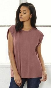 a7000546f3797 Bella+Canvas Women s Flowy Muscle Tee with Rolled Cuff - BL8804 - IdeaStage  Promotional Products