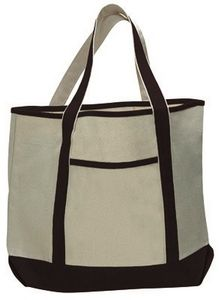Custom Q-Tees Large Canvas Deluxe Tote