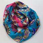 Custom 100% Silk Digital Print Infinity Scarf, 10