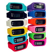 Silicone Watch Digital Wristband Pedometer