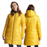Women's Mid-Length Long Sleeve Lightweight Hoodie Puffer Down Jacket Coat