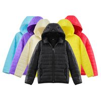 Unisex Long Sleeve Lightweight Hoodie Down Jacket Coat