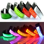 Custom LED Reflective Flashing Light - Up Safety Armbands