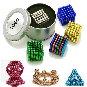 5mm*216 Silver Bucky ball Magnetic Blocks balls Building Toy