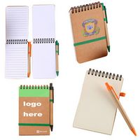 Eco/Recycled Spiral Top Jotter Notebook Pads with a Stylus Pen
