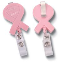 Awareness Ribbon Retractable Reel Badge Holder Clips