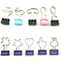 Creative Pattern Binder Clips / Paper Letter Clips / Money Cash Clips