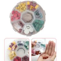 Circular Weekly Pill Boxes / Cases / Containers
