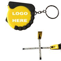 Mini Locked Metal Tape Measures 39Inch With a Keychain / Grip Cover