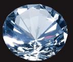 Custom Diamond Paperweight - Large