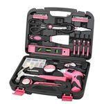 135 Piece Household Tool Kit - Pink
