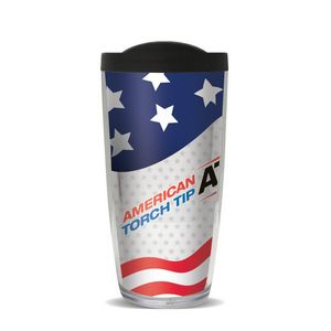 16 Oz. Poly Double Wall Insulated Tumbler W/Lid