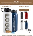 Custom 32 Oz. Vacuum Insulated Stainless Steel Bottle
