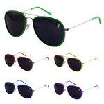 Plastic Bezel Metal Aviator Sunglasses