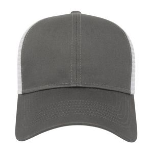 Charcoal Gray/White Front View Blank