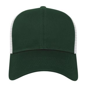 Forest Green/White Front View Blank