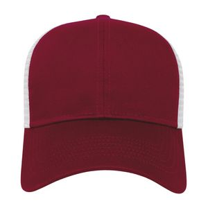Maroon Red/White Front View Blank