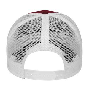 Maroon Red/White Back View Blank
