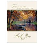 Custom Simply Giving Thanks Greeting Card w/ Gold Lined White Fastick Envelope