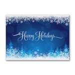 Custom Snowy Glow Economy Holiday Card