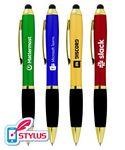 Custom Closeout Deluxe Click Pens Pen with Rubber Grip - No Minimum
