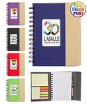 Eco Magnetic Notebook w/Sticky Notes and Flags & Pen -Full Color