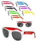 Custom Vegas Two Tone White Sunglasses