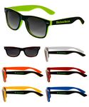 Two Color Black Malibu Sunglasses