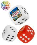 Custom Dice Shaped Stress Balls Full Color