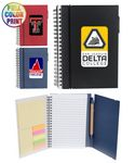Eco Spiral Notebook W/Sticky Notes and Flags & Pen -Full Color