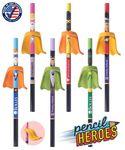 Pencil Heroes - Superhero Pencils with Eraser Capes - USA Made