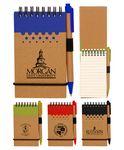 Custom Eco Spiral Notebook Jotter w/Pen