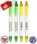 Custom Closeout USA Made Elegant White Click Promo Pen - No Minimum