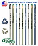 USA Made, Recycled Pencils with Eraser