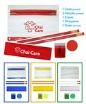 Custom School Kit - Eco Pencils - Sharpener - Ruler - Round Eraser