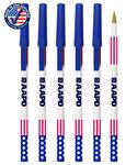 Custom USA made Patriotic Twister Deluxe Pen W/ Stars And Stripes Cap
