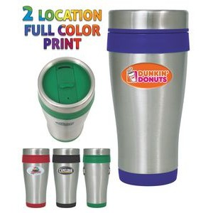 16 Oz. Stainless Steel Insulated Travel Mug