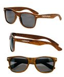 Custom Retro Woodgrain Sunglasses