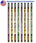 Custom USA Made Colorful Camo Pencil w/ Black Eraser, #2 lead