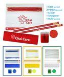School Kit - Eco Pencils - Sharpener - Ruler - Round Eraser