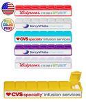 Custom USA Made 7 Day Pill Box Planner - Full Color