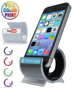 Rounded Cell Phone Stand - Full Color Dome Print Included - NO MINIMUM