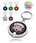 Custom Round LED Light with Key Ring - Full Color Print