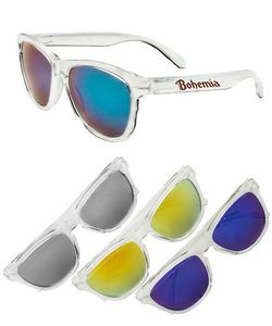 Clear Mirrored Sunglasses