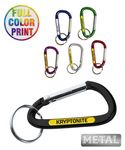 Custom 6mm Metal Carabiner Keychain - Full Color