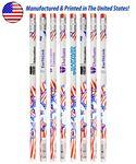Custom White Patriotic Foiled Pencil W/ Stars & Flag
